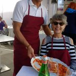Mimmo, my wife, and the pasta left-overs