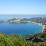 St. George's Bay as seen on Corfu Taxi Tour 4 hour tour.