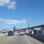 driving into the city towards Embarcadero