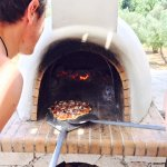 Pizza oven in the villa