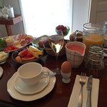 Our wedding morning breakfast - served to our private suite!