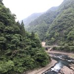 Tsuetate onsen is surrounded by mountains
