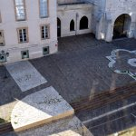 The position of the Baptistery marked out on the street