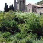 view back to Abbaye