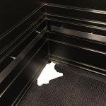 serviette dans l'ascenseur!