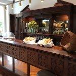 Bar set up for breakfast