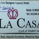 BUSINESS CARD OF HOTEL