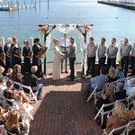 Wedding ceremony on the patio
