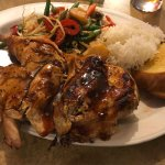 I had Jamaican Jerk Chicken