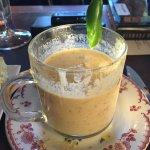 Jalapeno and avocado soup