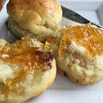 Fresh-made scones with home-made marmalade