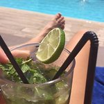 Mojito by the rooftop pool