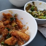 Caramel Chicken and Black Bean Broccoli w Almonds