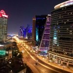 City view from my balcony at Hilton Doha