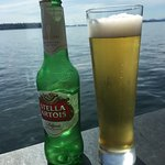 Having a Stella on the deck on a Wednesday!