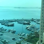 Partial Bay view from my hotel room at Hilton Doha