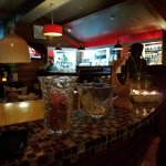 Inside the restaurant is warm and welcoming, with lots of tables and a great bar.