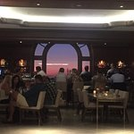 Beautiful sunset and view from the bar