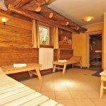 Das Appartementhaus verfügt über eine Sauna