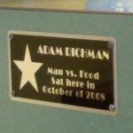 Man vs. Food plaque