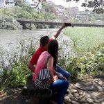 selfy foto at the lagoon