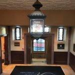 The lobby entrance