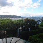 Der Blick vom Zimmer mit Richtung gen Zürich