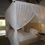 The mosquito net seemed to be for ornamental purposes. We never saw a mosquito and rooms have A/