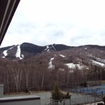 Loon mountain ski area view from room