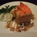 carrot cake with cream cheese mousse filling