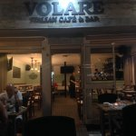 view from the patio into Cafe Volare