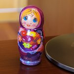 Anti stress Matroesjka on the room desk