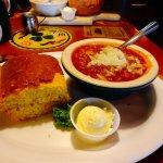 Chili and corn bread