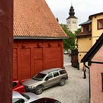 St Clemens hotel, Visby - view from room towards the inner yard.