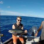 Geschafft... Dank Fisch-Fachmann Mike haben auch bei uns Thunfische angebissen.