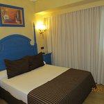 comfortable bed, interior decorations are cozy