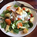 The salad came with the 2 slider lunch deal. A Caesar salad option was also available as was sou