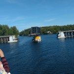 Swivel bridge to allow our boat to pass through