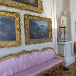 Narrow sofas in the hallway