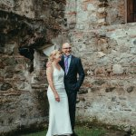 Wedding pix by historic ruins in Antigua