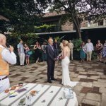 Our small wedding under the guacamayas in the historic hotel