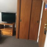 Wardrobe and tv, suitcase stand