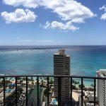 View from our room on the 33rd floor