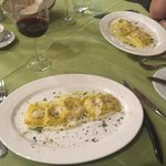Feta Ravioli with cauliflower puree