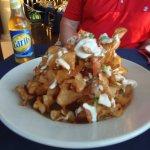 Potato stack appetizer, Pusser's West End, Tortola