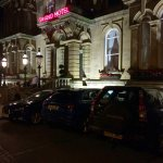 The front at night - limited parking but street permit provided