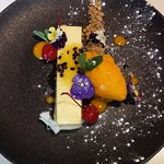 Mango and Passionfruit cheesecake