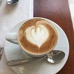 Great cappucinno at the hotel resaurant