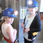 Grand daughters down the mine