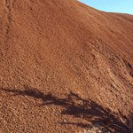 Close up of the soil at one of the trails in the Painted Hills Unit